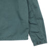 "BRUSHED COTTON CANVAS ZIPPERED OVERSHIRT ""DARK TEAL GREEN"""
