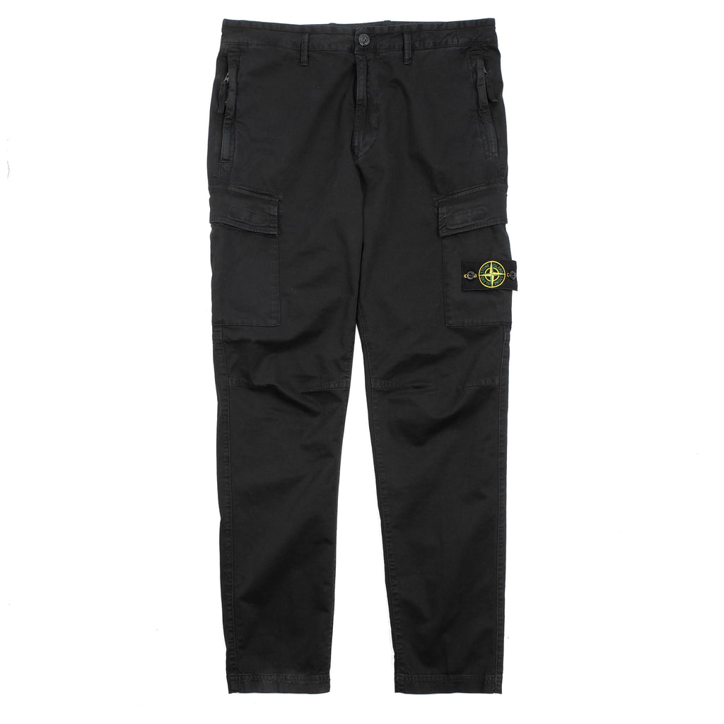 STRETCH BROKEN TWILL CARGO PANTS WITH 'OLD' TREATMENT