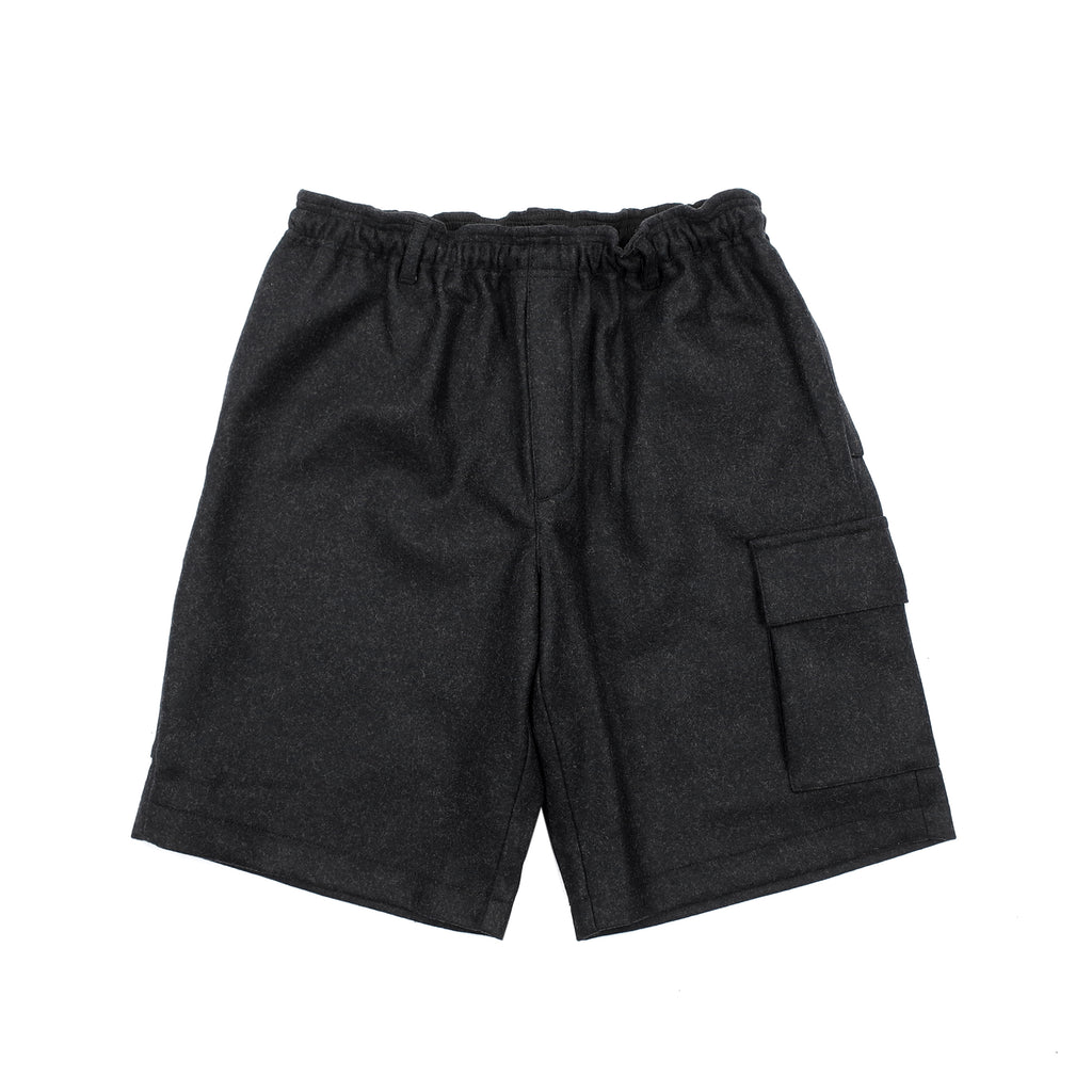 "WOOL BROADCLOTH UTILITY SHORTS ""BROOD GREY"""