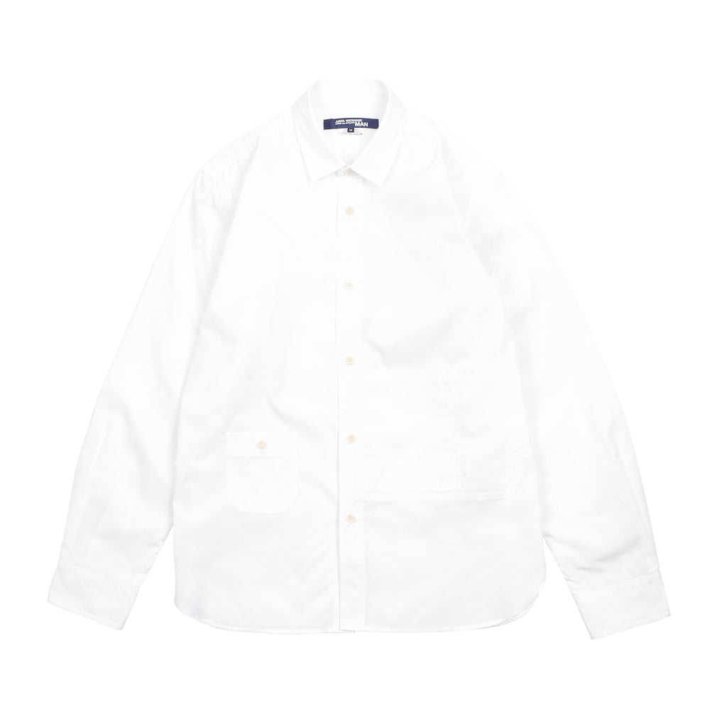 ELBOW PATCH COTTON POPLIN SHIRT