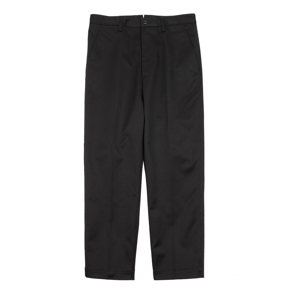 "CROPPED TWILL TROUSERS ""BLACK"""