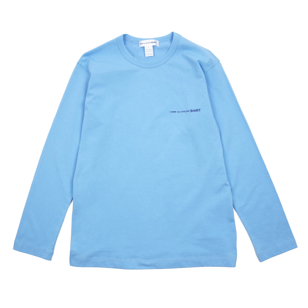 "LONG SLEEVE SMALL LOGO T-SHIRT ""BLUE"""