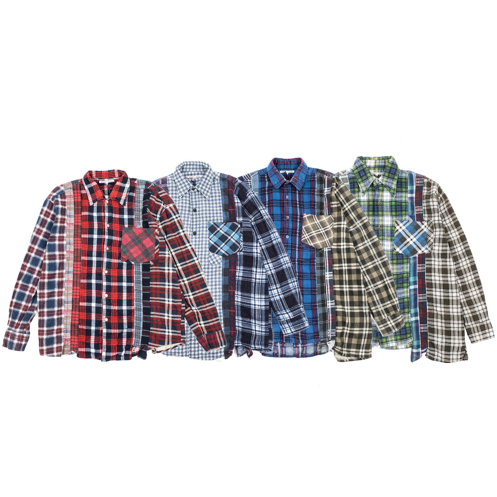 "F19 REBUILD BY NEEDLES FLANNEL SHIRT ""7 CUTS SHIRT"""