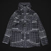 "REFLECTIVE GRID LAMY-TC JACKET ""BLUE GREY"""