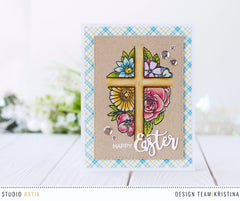Floral Cross | Clear Stamp Set