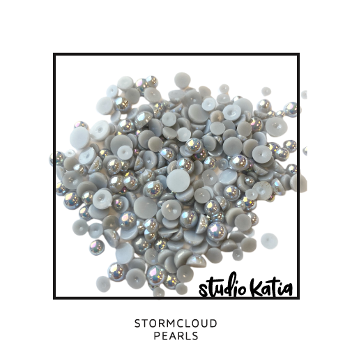studio katia, embellishments, pearls, crystals, pink, jewels, cardmaking, cards, diy, pretty, shiny, glossy, sparkly, sparkles, cards, shaker, stormcloud, grey, gray