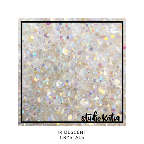 studio katia, stars, sequins, embellishments, cardmaking, scrapbooking, shakercards, cards, papercrafts, iridescent, clear, jewels, crystalks