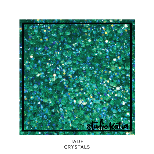studio katia, stars, sequins, embellishments, cardmaking, scrapbooking, shakercards, cards, papercrafts, jade, green