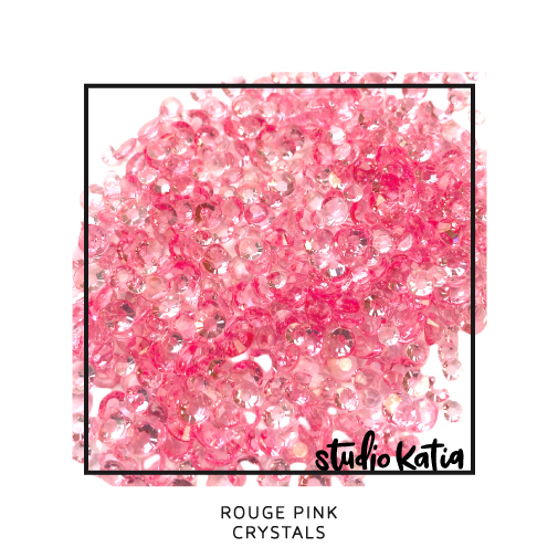 studio katia, embellishments, pearls, crystals, pink, jewels, cardmaking, cards, diy, pretty, shiny, glossy, sparkly, sparkles, cards, shaker, pink
