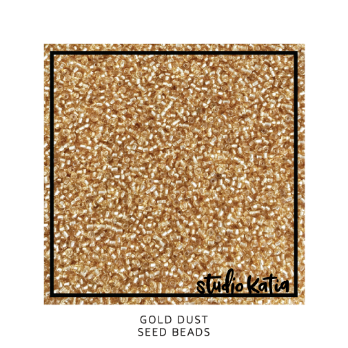 gold, beads, dust, shaker, cards, studio katia, holiday
