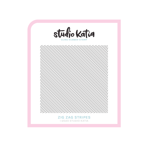 background, zigzag, cling, rubber stamp, geometric, studio katia, 6x6