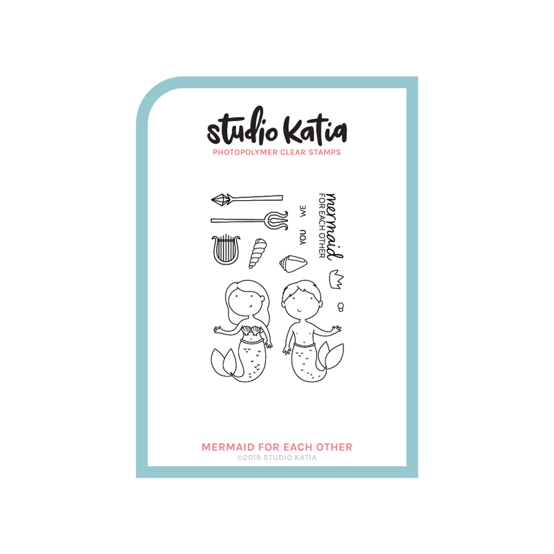 studio katia, clear stamp, love, mermaids, sea, valentines, cute