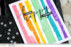Brush Stroke Stripes | Clear Stamp Set