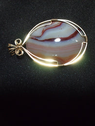 Pendant-Wire Wrap-Banded-Agate|Rock-N-Gem-Jewelry