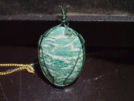 Pendant-Wire Wrap-Amazonite|Rock-N-Gem-Jewelry