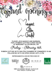 Margaret Ellen Bridal Grand Opening Feb 16 2018
