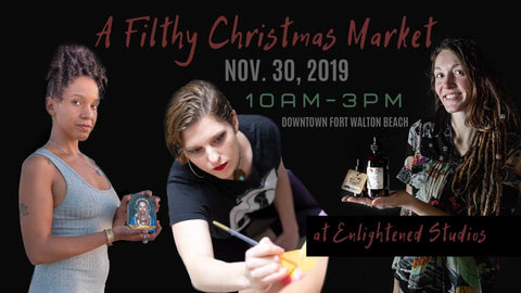 Filthy Christmas Market Saturday December 3 Enlightened Studios FWB