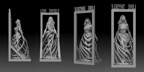 3d Art of UMA Love Thyself sculpture