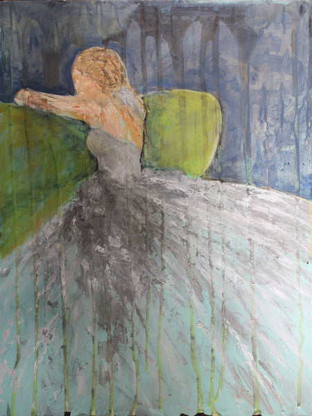 Green Couch - Abstract Bridal Figurative