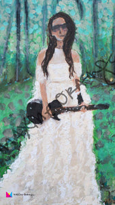 Rocker Bride MOBILE Digital Art Download