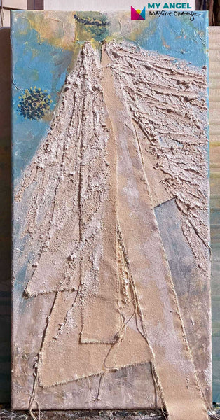 "My Angel - HOLIDAY ANGELS - Mixed Media 10""x20"""