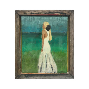 Beach Bride 16x20 Abstract Bridal - Original Art Maxine Orange