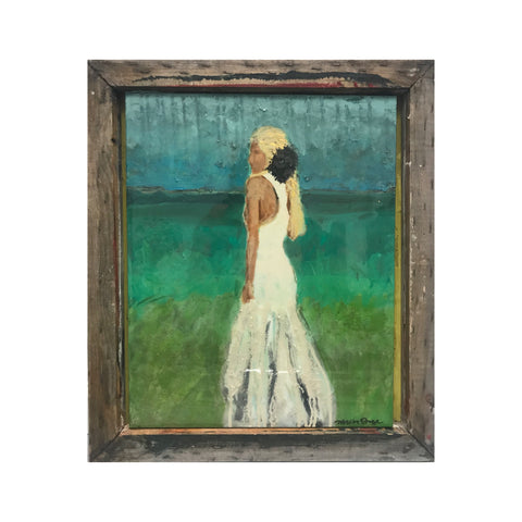 Beach Bride 16x20 Abstract Bridal