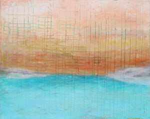 MORNING VIEW 20x30 abstract surrealist beach landscape