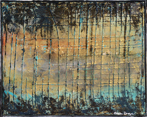 Waiting for Irma 16x20 abstract landscape by Maxine Orange