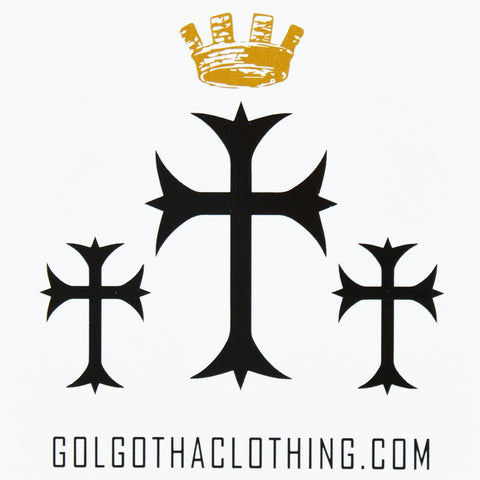Golgotha logo stickers