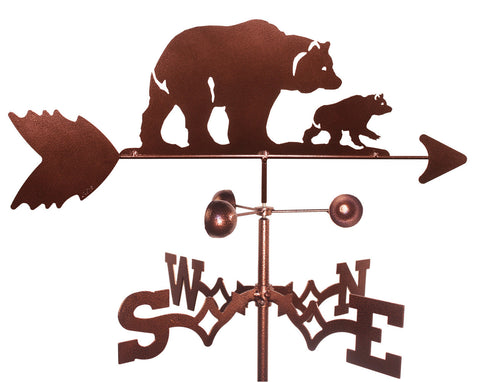 Bear with Cub Design Weathervane