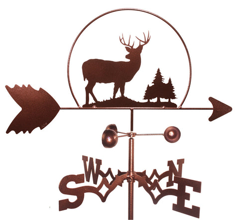 Buck Deer with Pines Weathervane