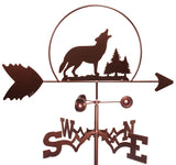 Wolf with Pine Tree Design Weathervane