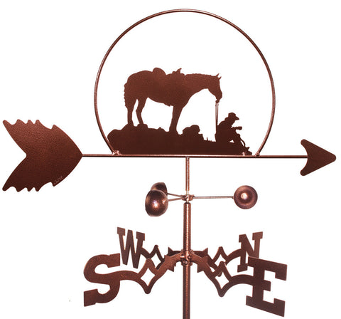 Cowboy with Horse Design Weathervane