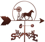 Horse with Windmill Design Weathervane