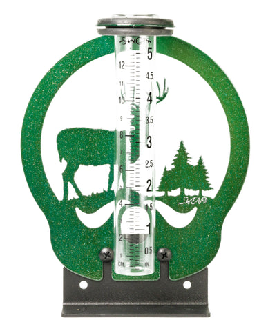 Deer with Pine Trees Rain Gauge