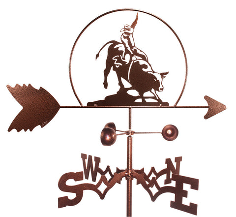Bull Rider Design Weathervane
