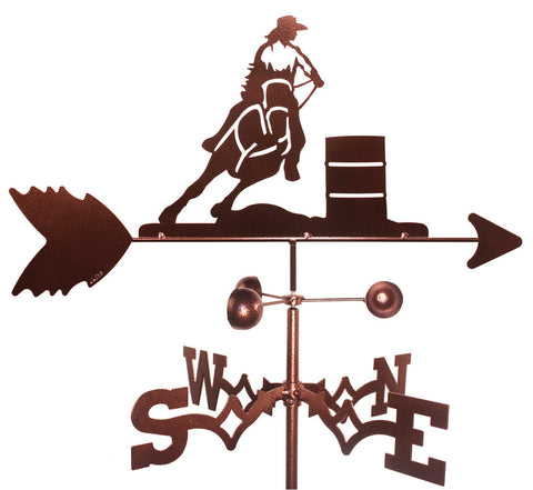 Barrel Racer Design Weathervane