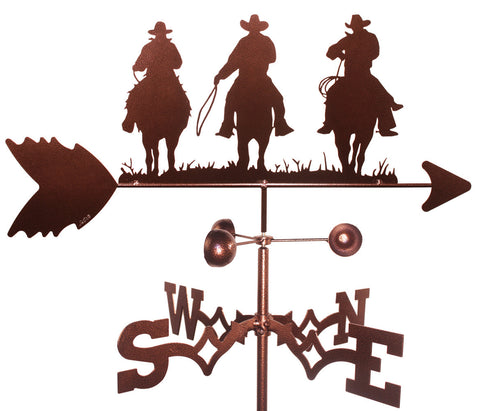 Three Cowboys on Horses Weathervane