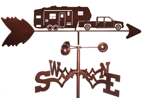 5th Wheel Trailer with Truck Design Weathervane