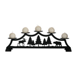 Moose / Bear - Fireplace Pillar Candle Holder