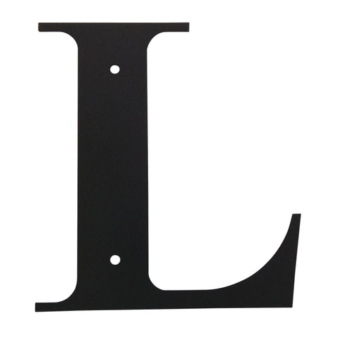 Wrought Iron Metal House Letter L