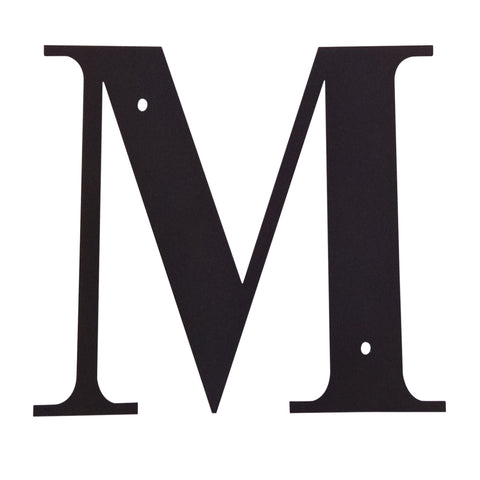 Wrought Iron Metal House Letter M