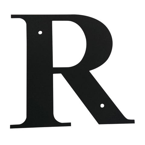Wrought Iron Metal House Letter R