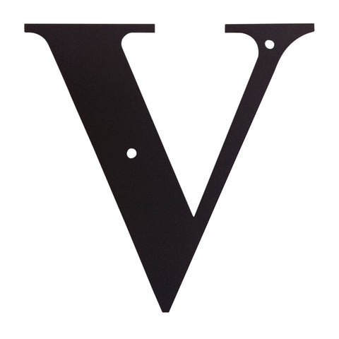 Wrought Iron Metal House Letter V