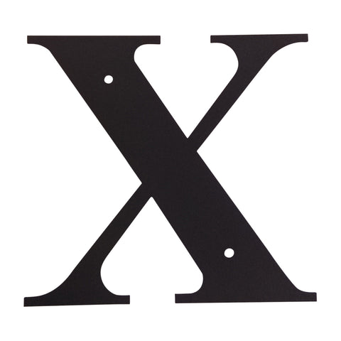 Wrought Iron Metal House Letter X