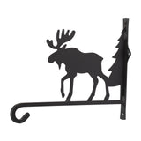 Wrought Iron Moose and Tree Plant Hanger
