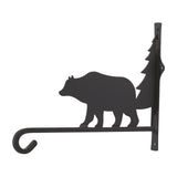 Wrought Iron Bear and Tree Plant Hanger