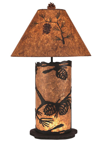 Pinecone Design Large Table Lamp with Nightlight