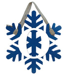 Snowflake Monogram Door Hanger / Metal Wall Decor